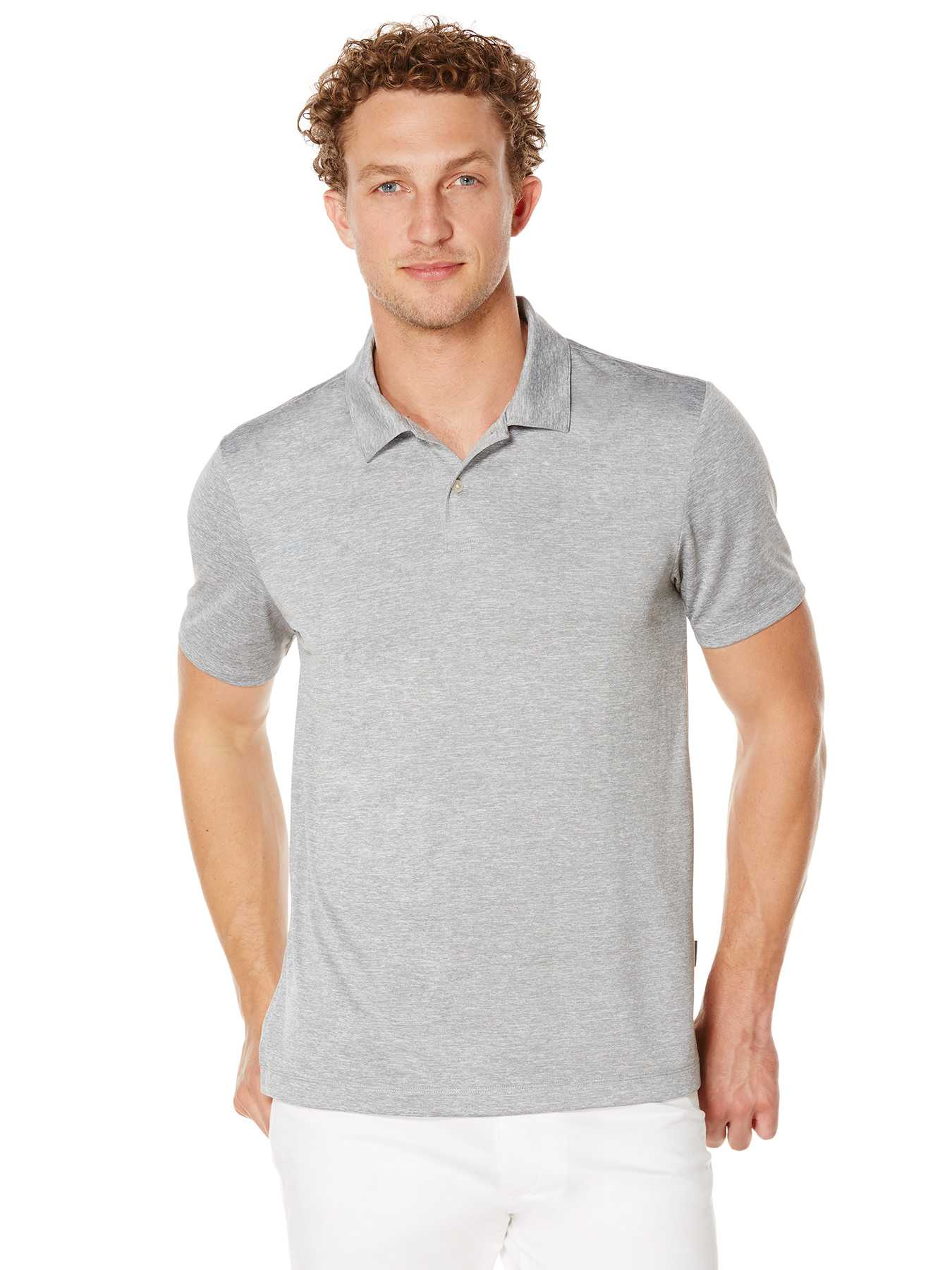 Perry Ellis Short Sleeve Heathered Polo