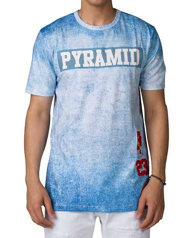 BLACK PYRAMID MENS Blue Clothing / Tops