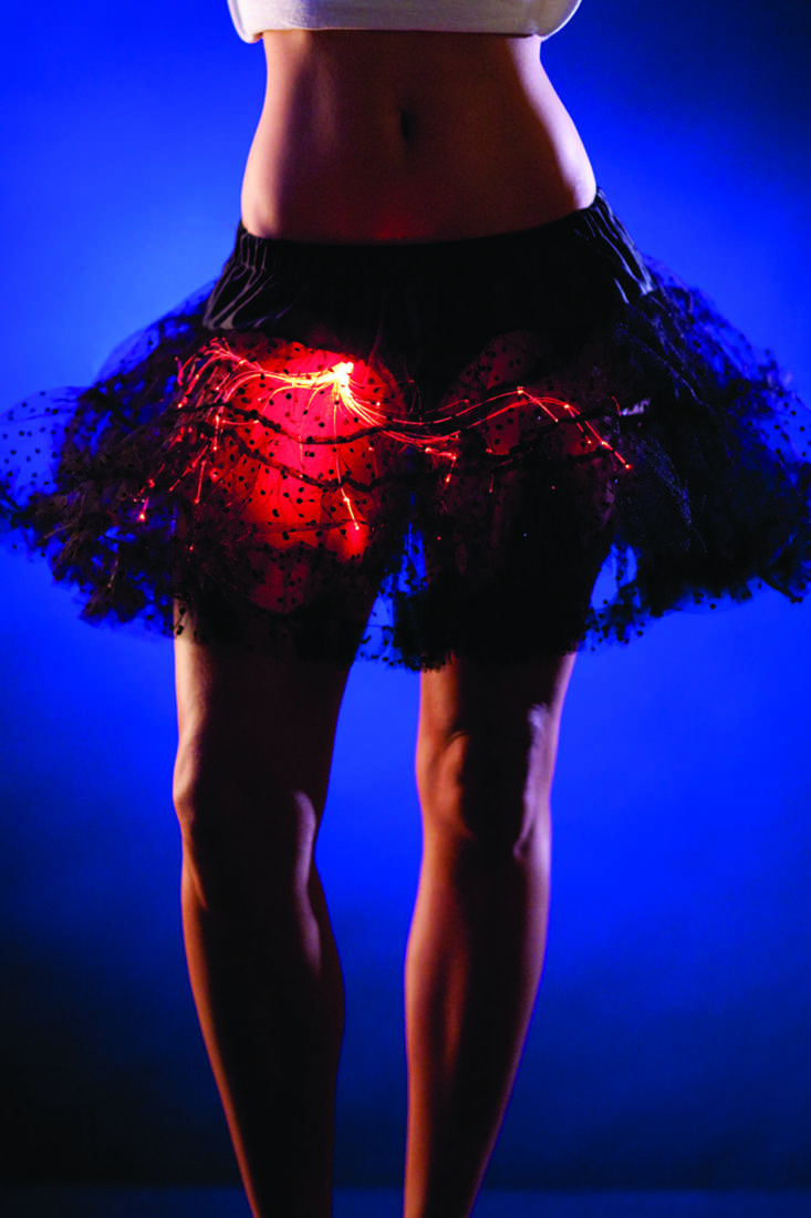 Black Dotty Mesh Red Lights Medium Sexy Petti Tutu