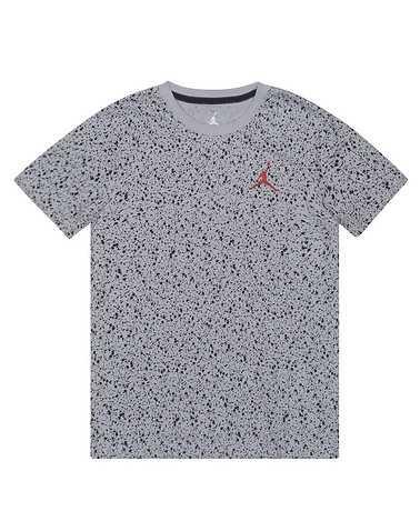 JORDAN BOYS Grey Clothing / Short Sleeve T-Shirts M