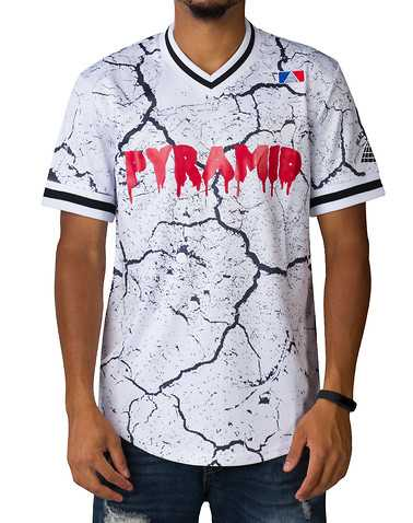 BLACK PYRAMID MENS White Clothing / Tops