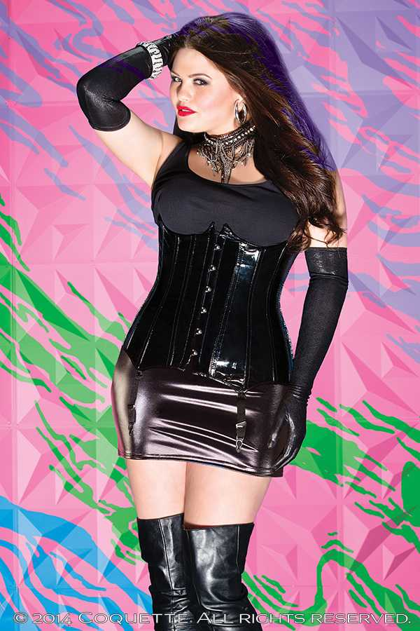 Black Patent Faux Leather Cincher AMI+