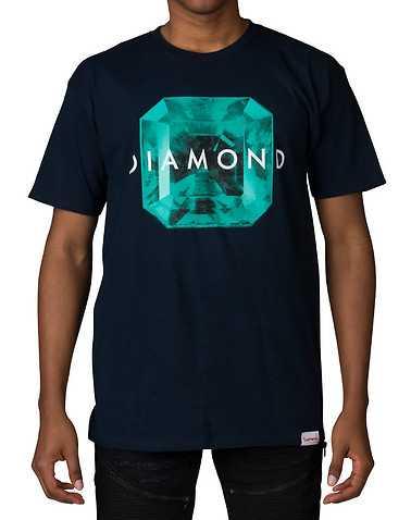 DIAMOND SUPPLY COMPANY MENS Navy Clothing / Tops