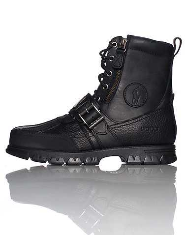 POLO FOOTWEAR MENS Black Footwear / Boots 9.5