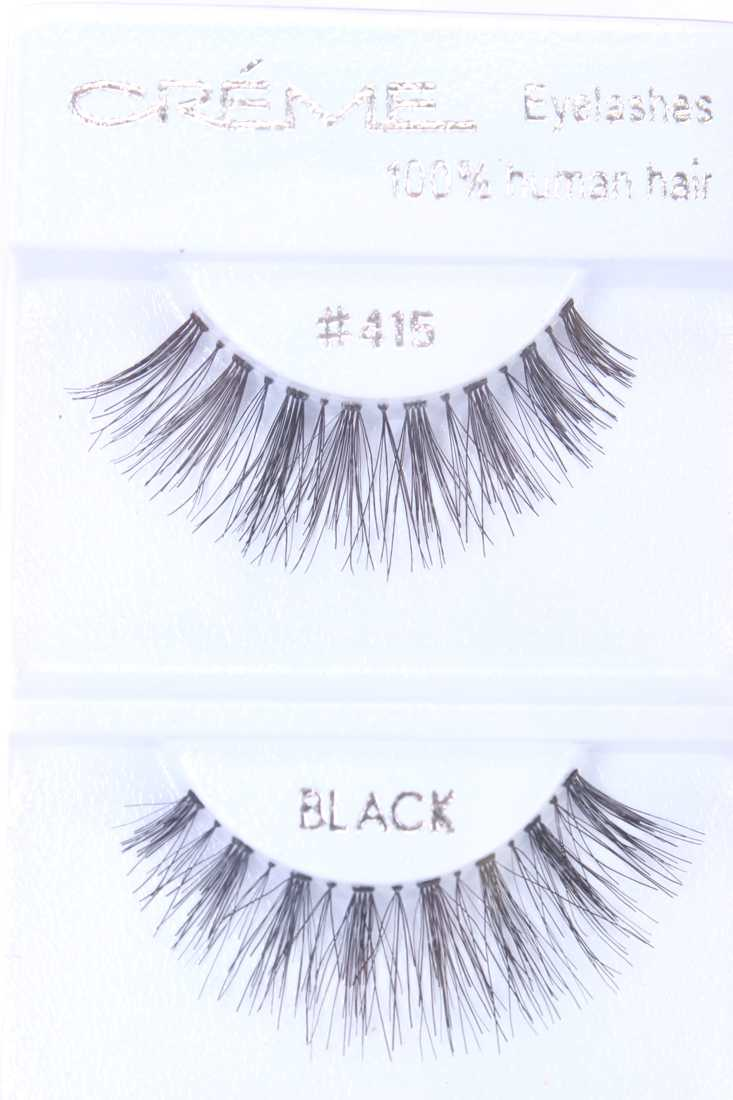 Black Full Lengthening Glamour Human Hair Eyelashes