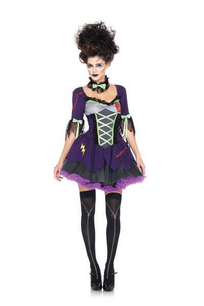 Purple 3 PC Frankies Bride Costume