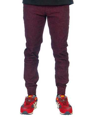 WELL VERSED MENS Burgundy Clothing / Pants 36