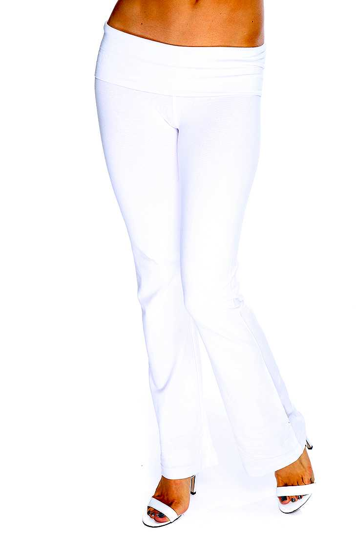 White Comfy Stretchy Fit Yoga Pants