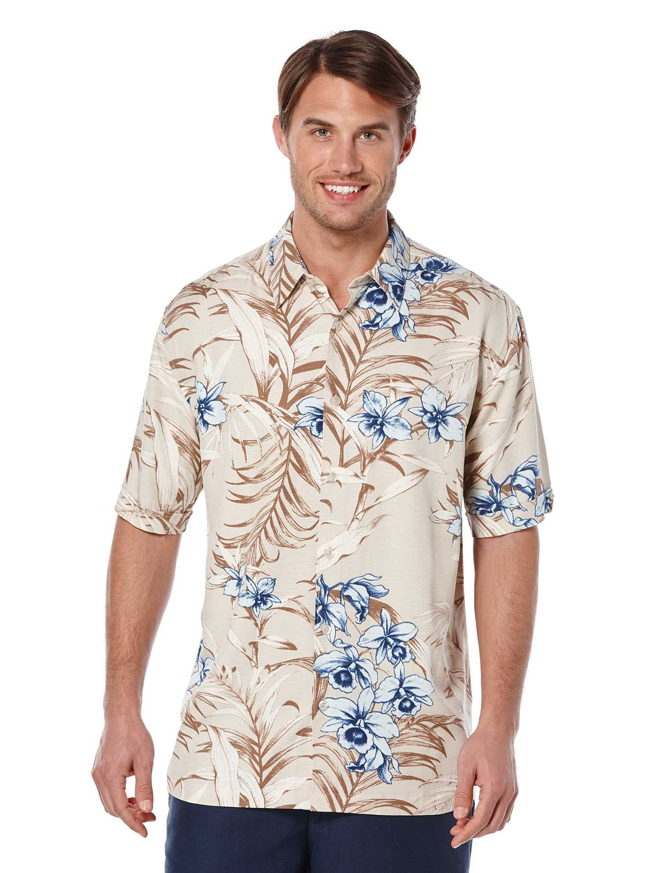 Cubavera Short Sleeve Tropical Print