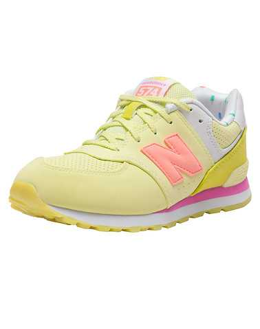 NEW BALANCE GIRLS Yellow Footwear / Sneakers