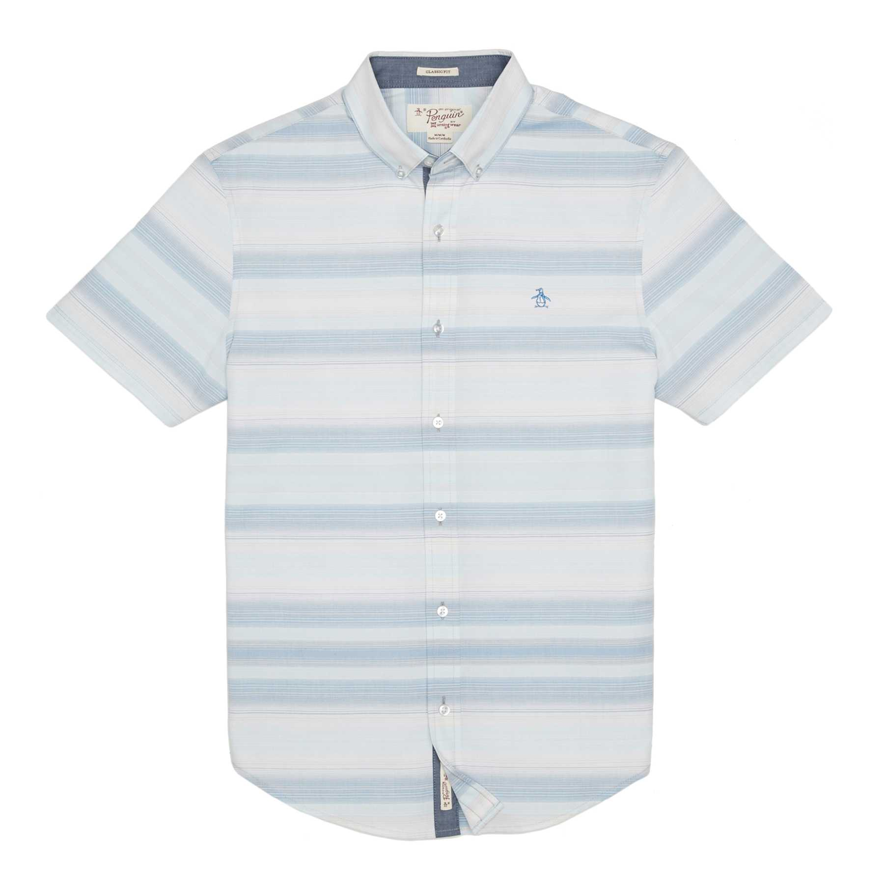 Original Penguin OMBRE STRIPE SLUB SHIRT