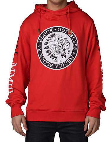 HUSTLE GANG MENS Red Clothing / Sweatshirts L