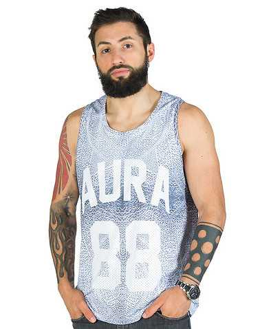 AURA GOLD MENS Silver Clothing / Tank Tops XL