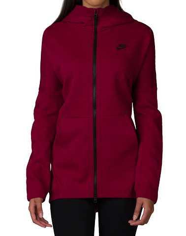 NIKE SPORTSWEAR WOMENS Red Clothing / Sweatshirts