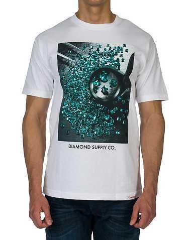DIAMOND SUPPLY COMPANYENS White Clothing / Tees and Polos