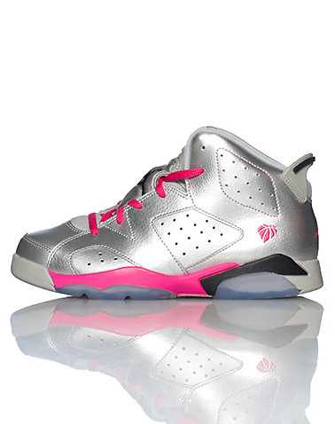 JORDAN GIRLS Silver Footwear / Sneakers 2Y