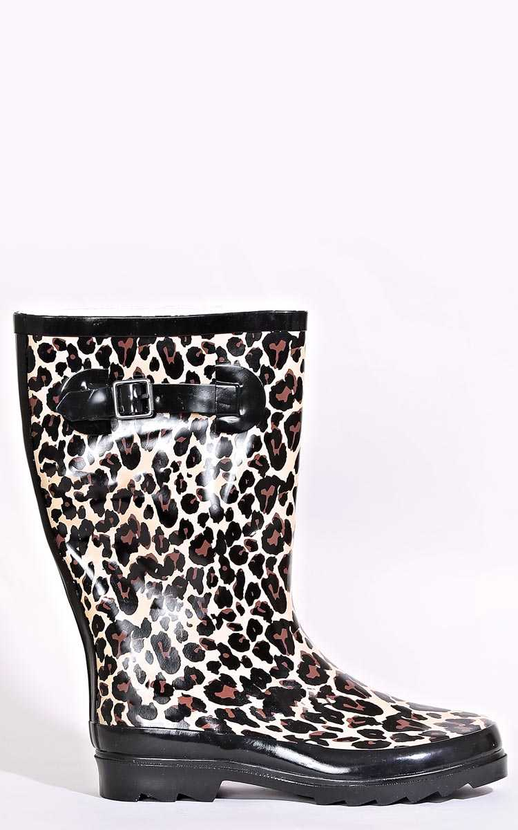 Untamed Rain Boots - - Brown Comb in Size by Styles For Less