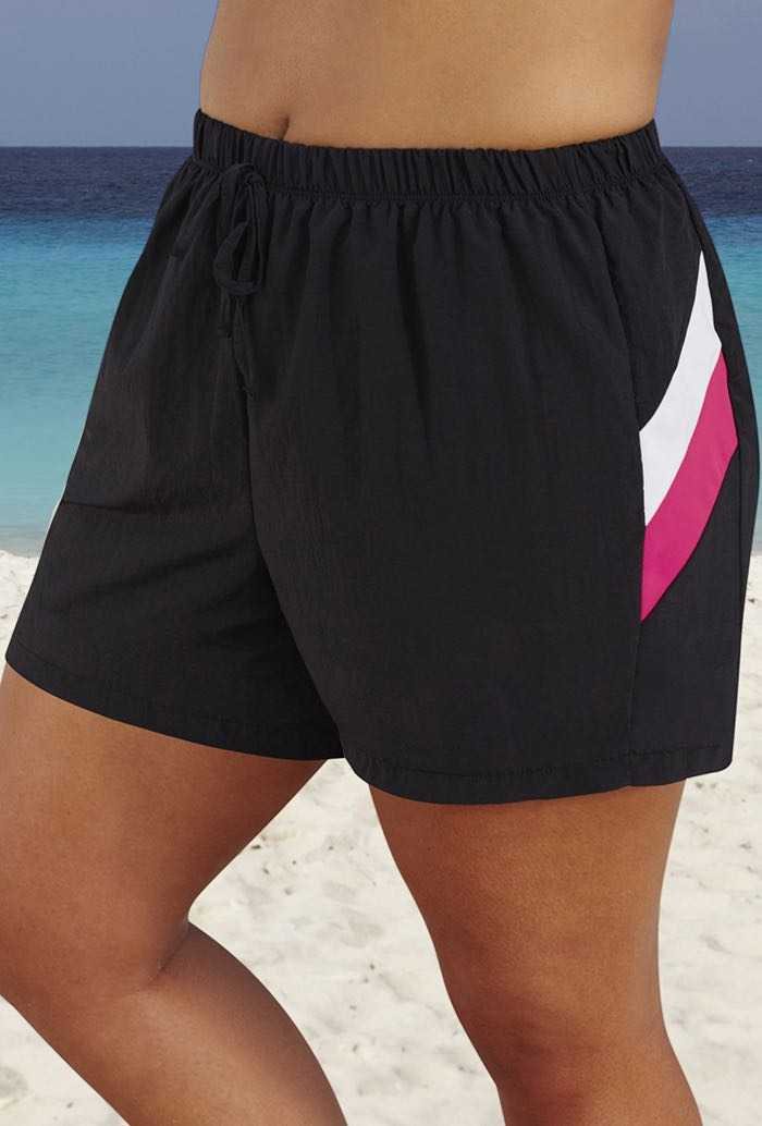 Swim 365 Pink Colorblock 26-36 Taslon Short