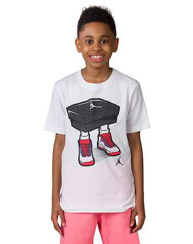 JORDAN BOYS White Clothing / Short Sleeve T-Shirts S