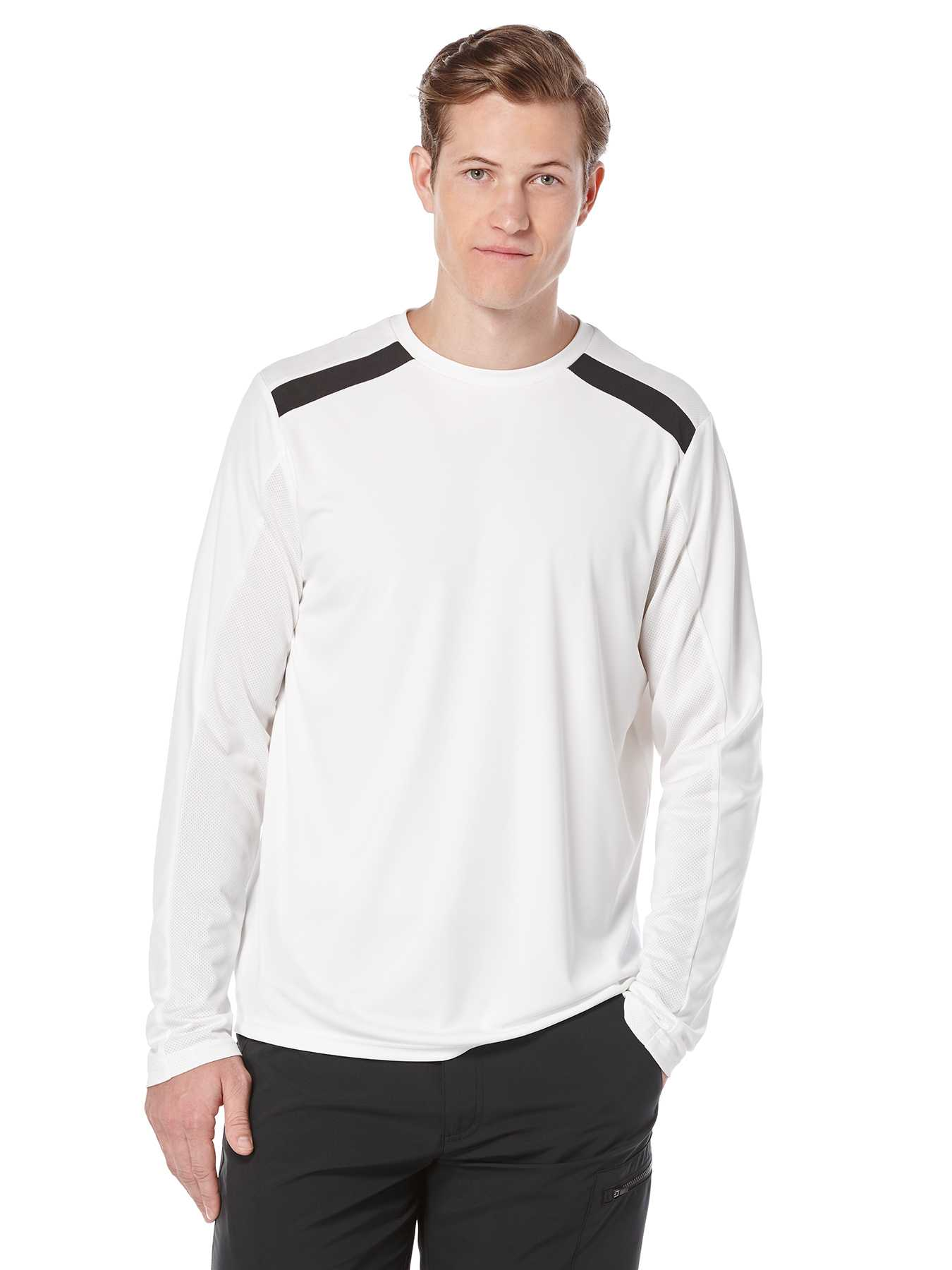 Perry Ellis Long Sleeve Solid Colorblock Shirt