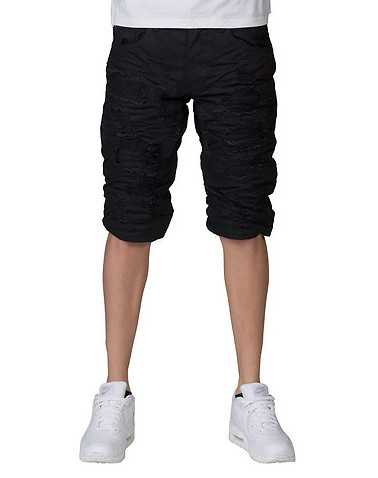 HERITAGE MENS Black Clothing / Denim Shorts