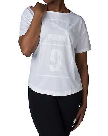 PUMA WOMENS White Clothing / Tops