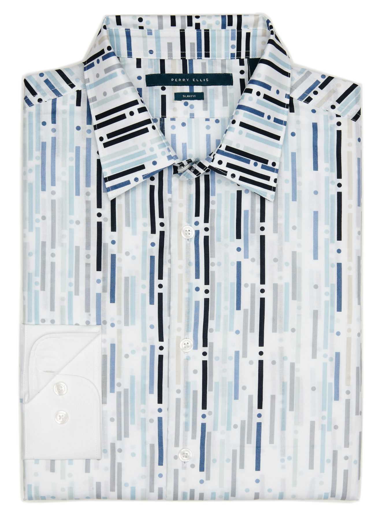 Perry Ellis Big and Tall Exclusive Rain Print Shirt