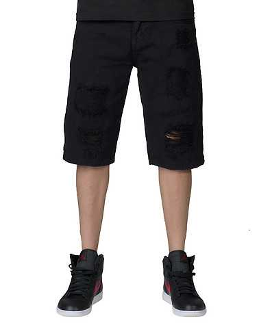 DECIBEL MENS Black Clothing / Denim Shorts 32