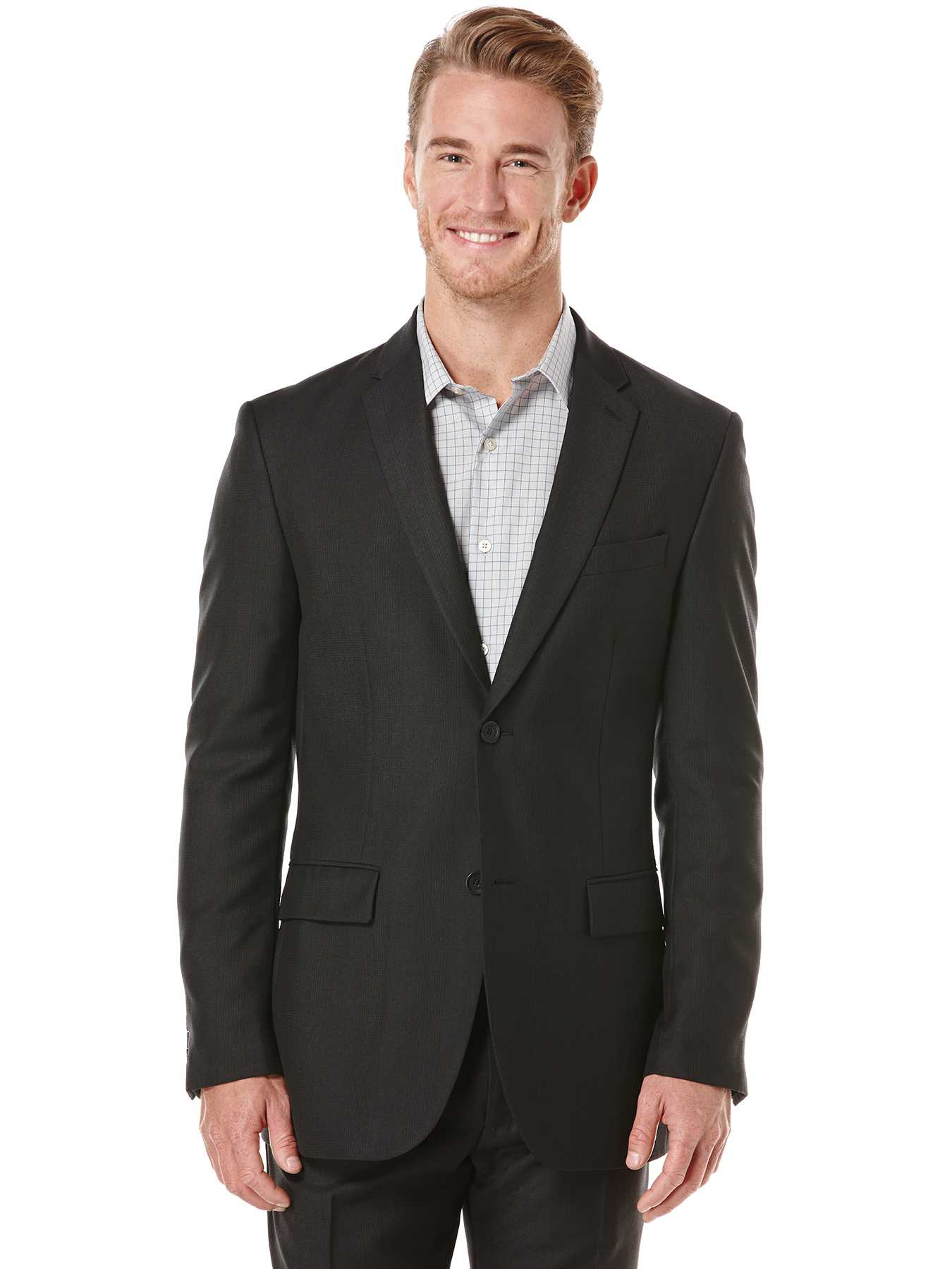 Perry Ellis Modern Fit Plaid Suit Jacket