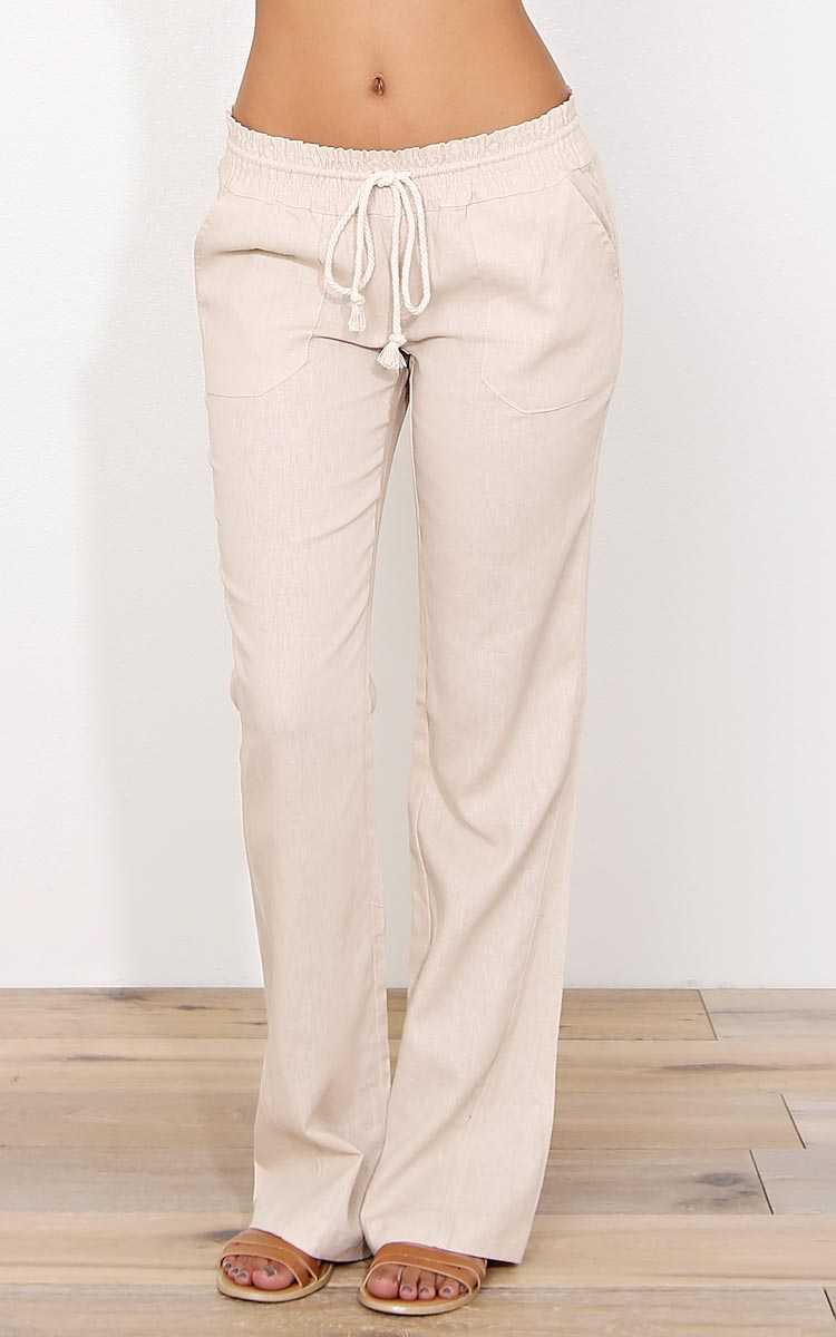 Havasu Linen Pants - - Natural in Size by Styles For Less