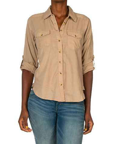 ESSENTIALS WOMENS Beige-Khaki Clothing / Tops S