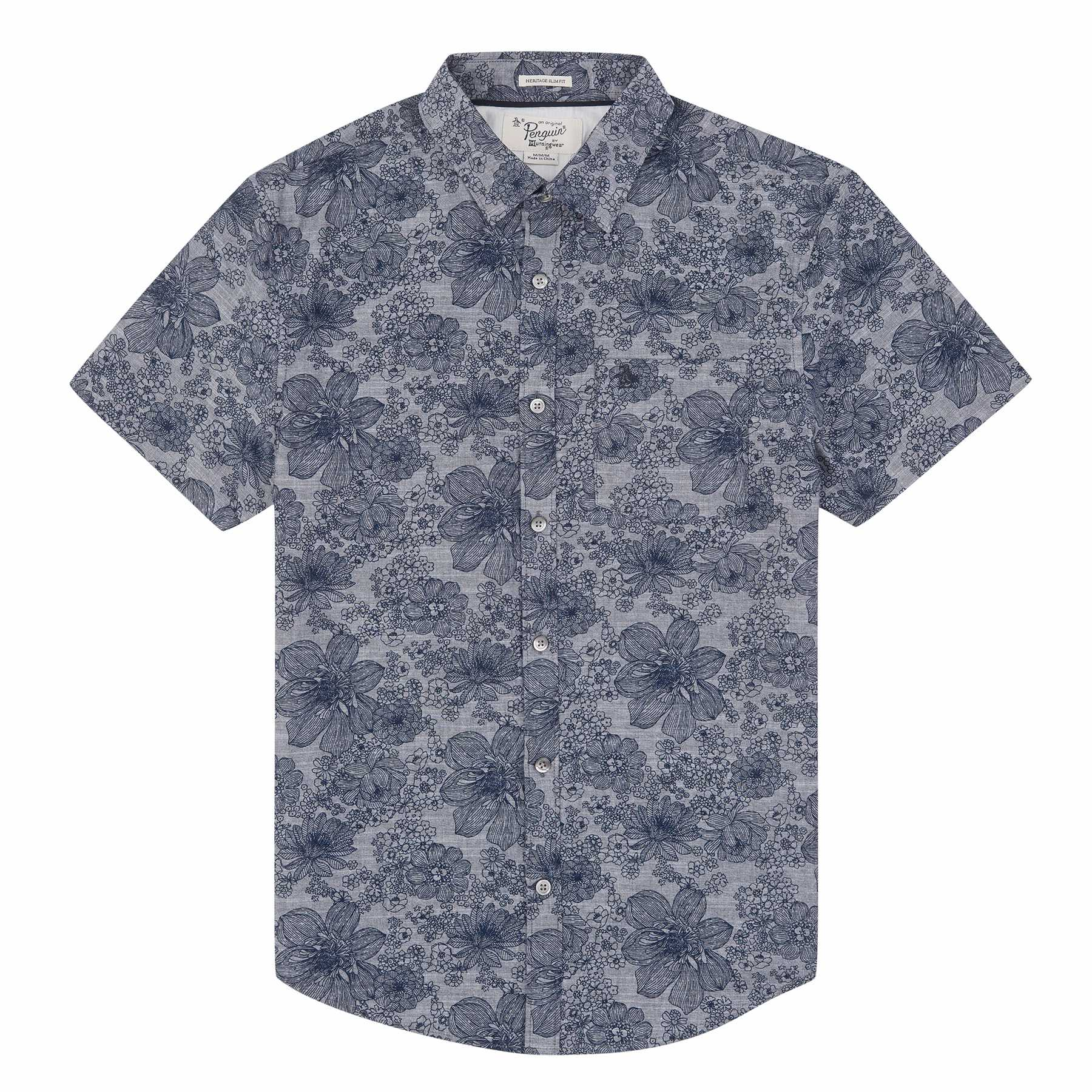 Original Penguin CHAMBRAY FLORAL PRINT SHIRT