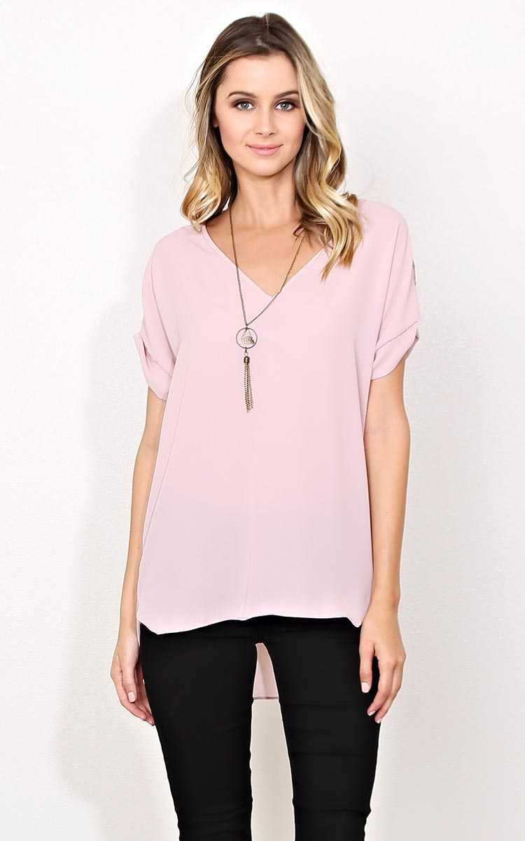 Bailey Woven Necklace Top - Mauve in Size by Styles For Less