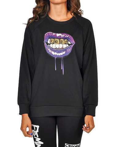 CROOKS AND CASTLES WOMENS Black Clothing / Sweatshirts L