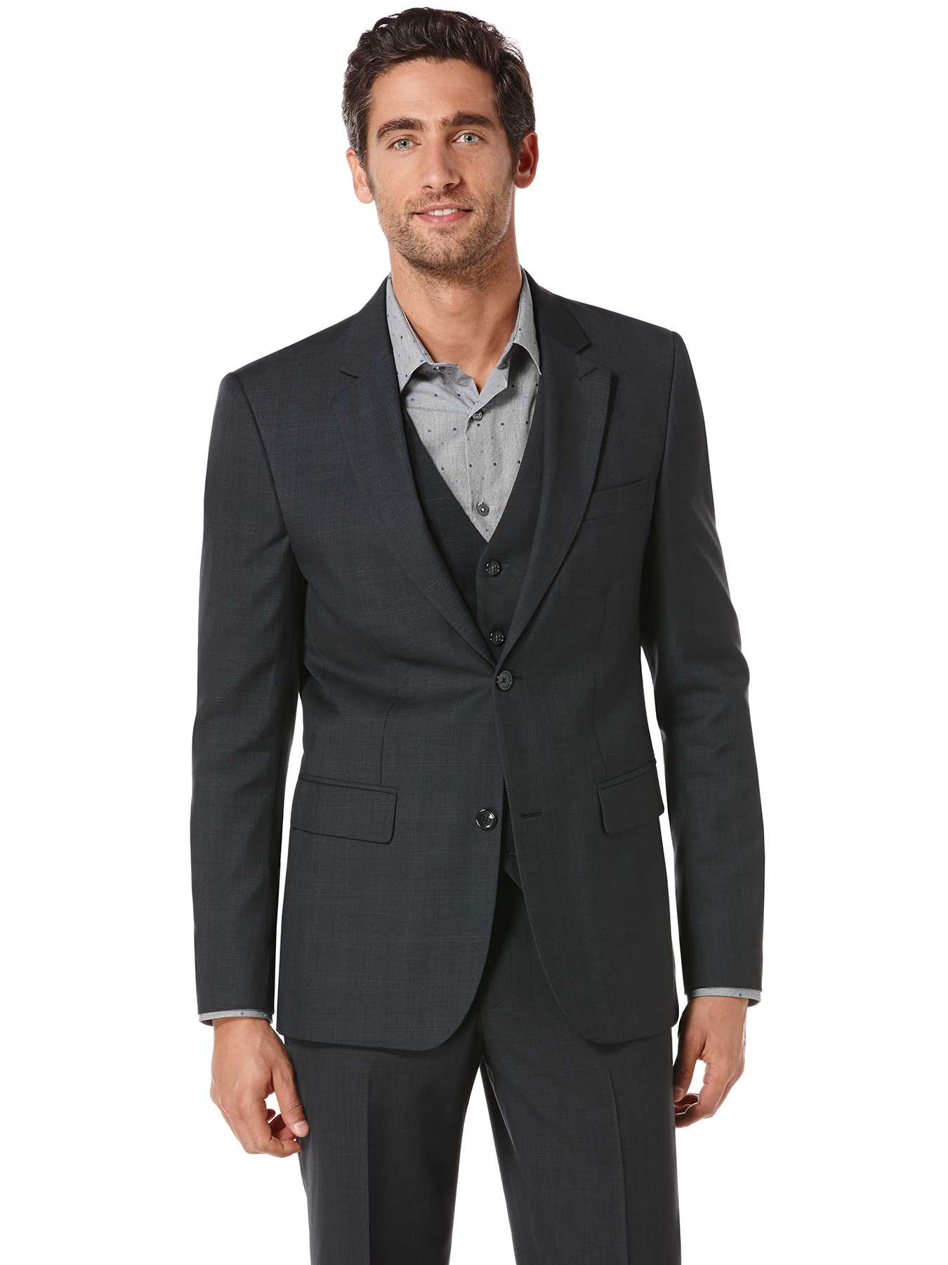 Perry Ellis Tonal Plaid Suit Jacket
