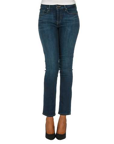 LEVIS WOMENS Blue Clothing / Jeans