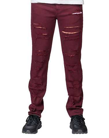 RUSTIC DIME MENS Burgundy Clothing / Jeans