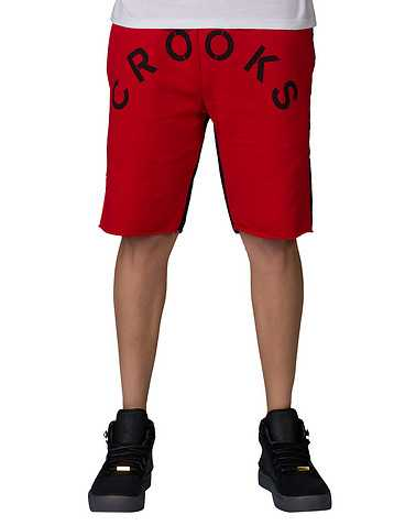 CROOKS AND CASTLES MENS Red Clothing / Athletic Shorts M