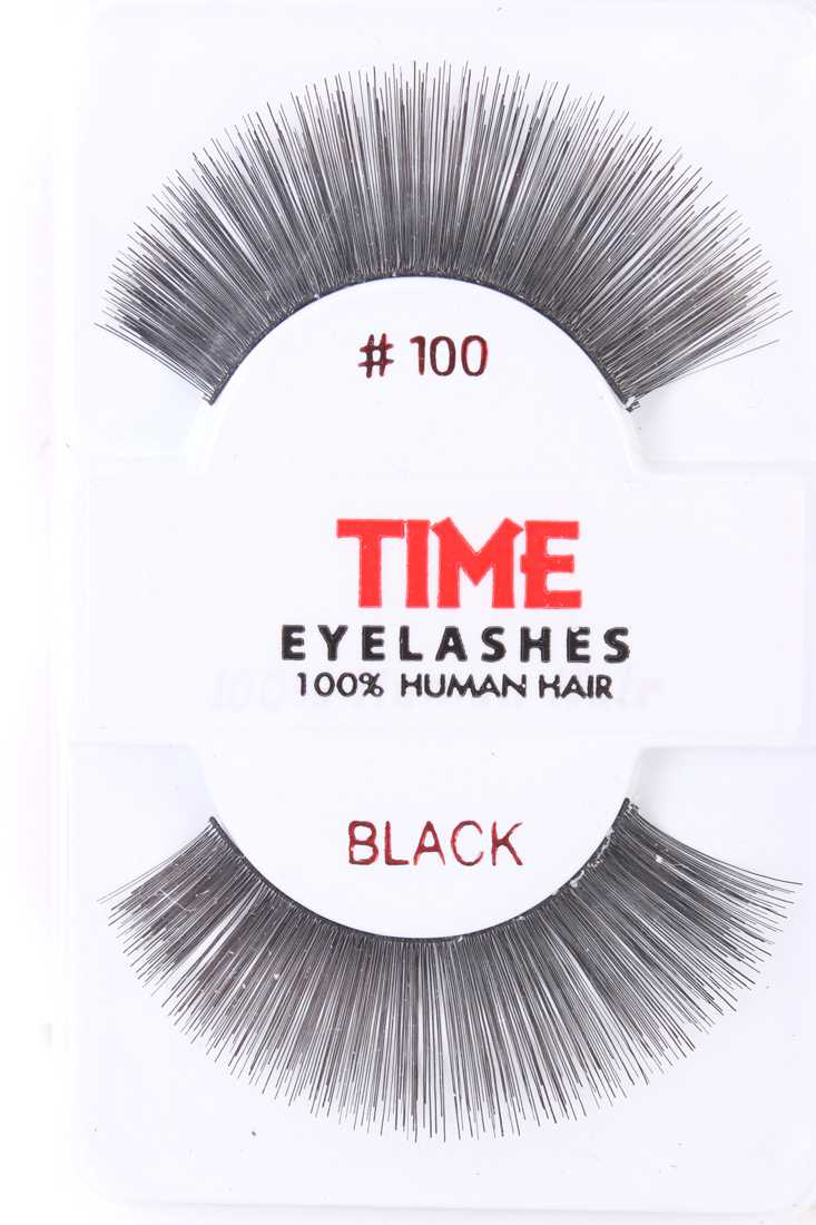 Black Thick Full Long Glamour Human Hair Eyelashes