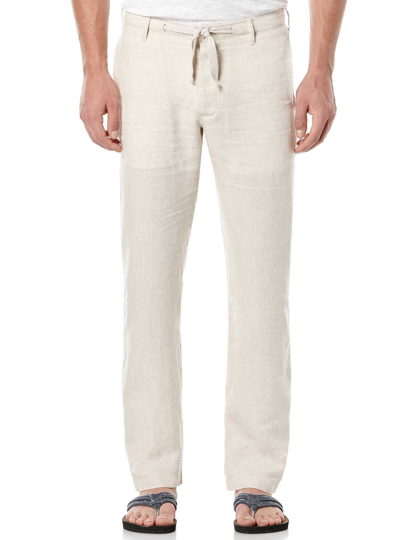 Perry Ellis Linen Washed Drawstring Pant