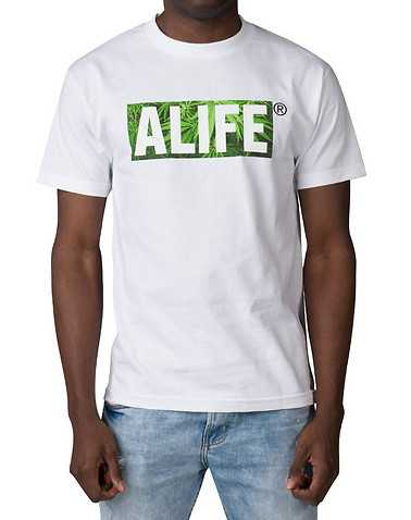 ALIFE MENS White Clothing / Tops