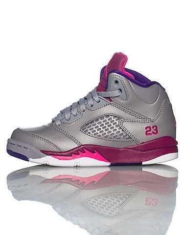 JORDAN GIRLS Grey Footwear / Basketball