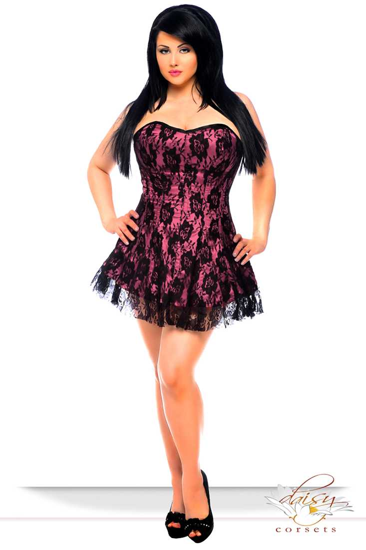 Lavish Pink Lace Corset Dress