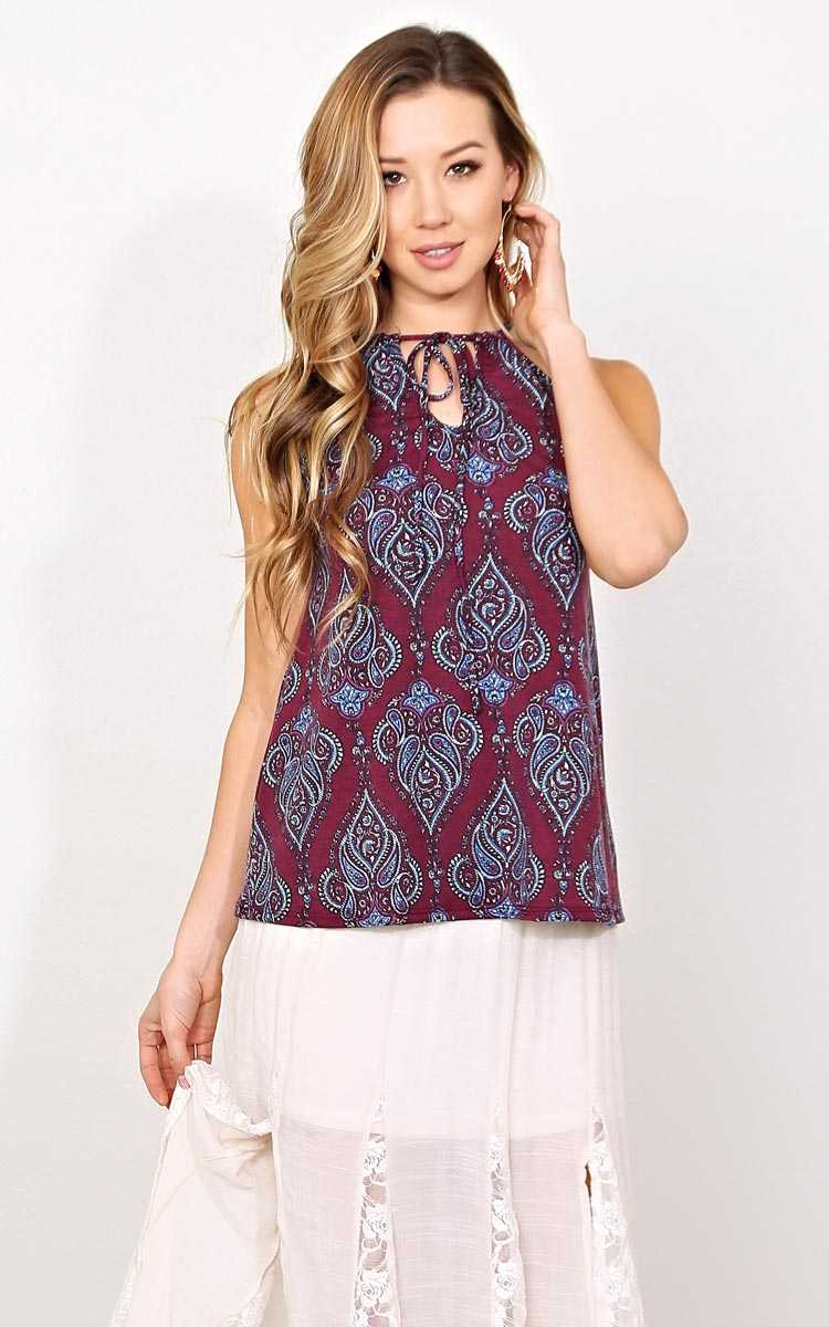 Spring Spirit Knit Tank - - Berry in Size by Styles For Less