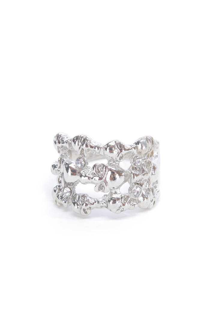 Silver Skull High Polish Ring