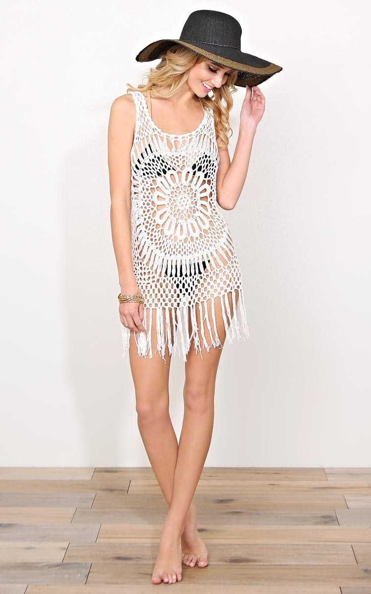 Barbados Crochet Cover Up - N/S - Ivry/Natrl by Styles For Less
