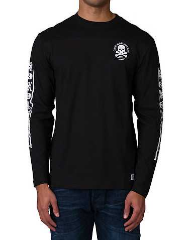 CROOKS AND CASTLES MENS Black Clothing / Tops L
