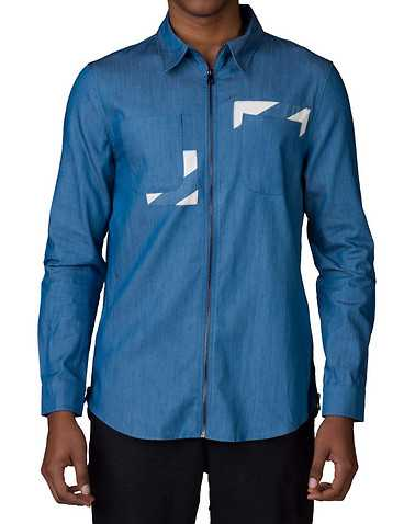 HUDSON OUTERWEAR MENS Blue Clothing / Button Down Shirts S