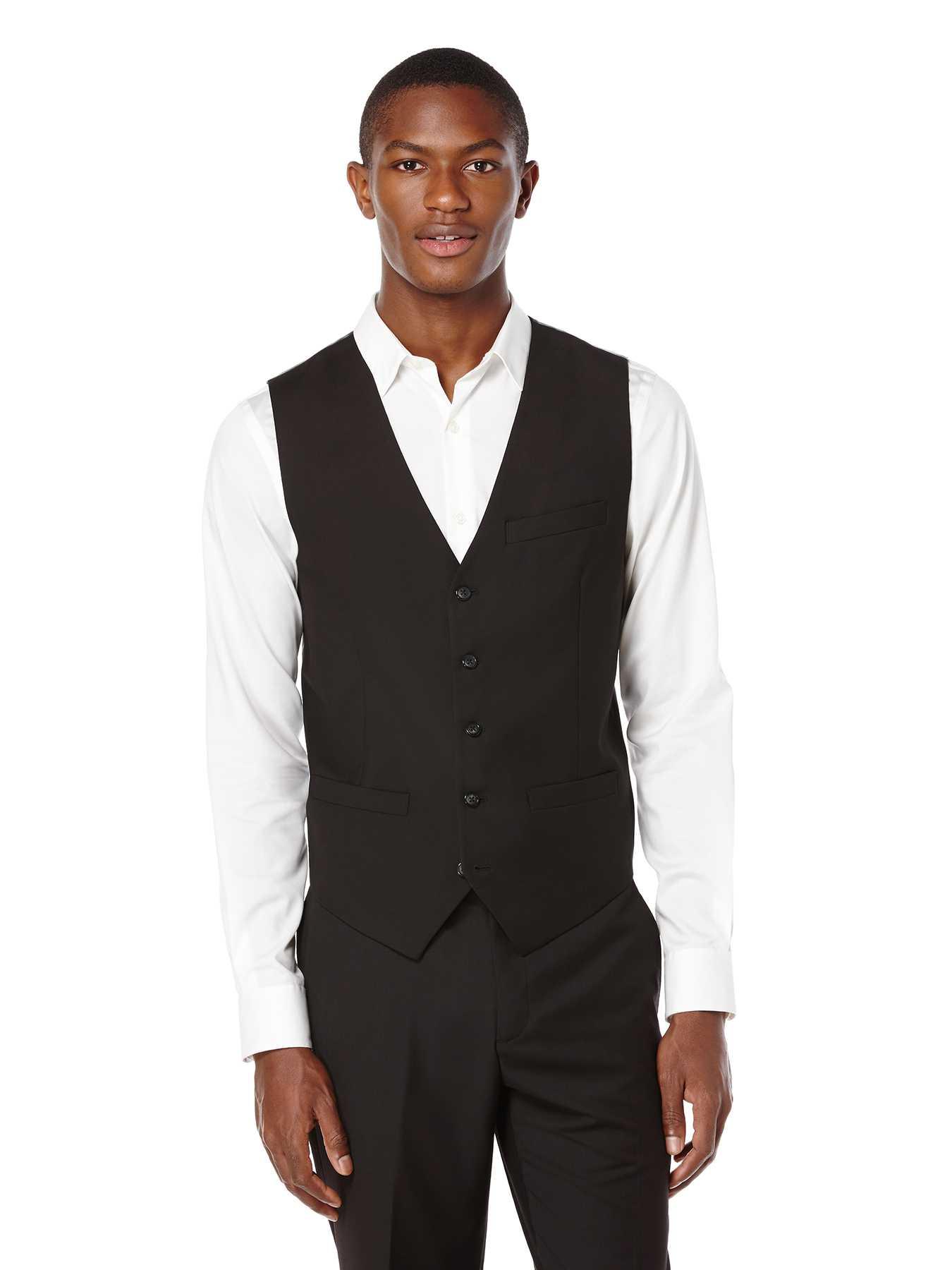 Perry Ellis Regular Fit Solid Suit Vest