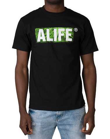 ALIFE MENS Black Clothing / Tops
